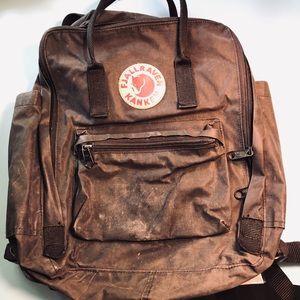 Fjallraven black backpack